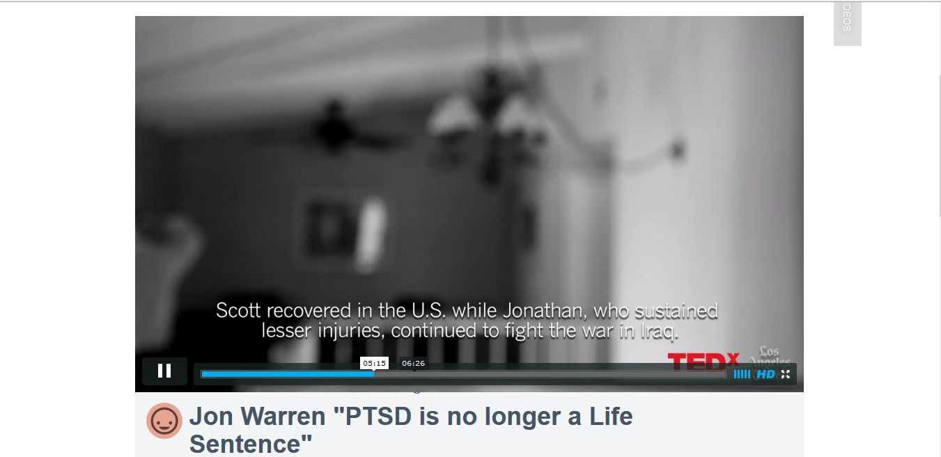 "Jon Warren ""PTSD is no longer a Life Sentence"""