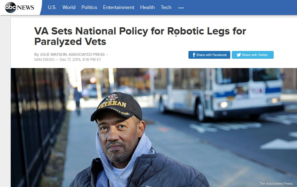 VA Administration Allows Robotic Legs for Vets