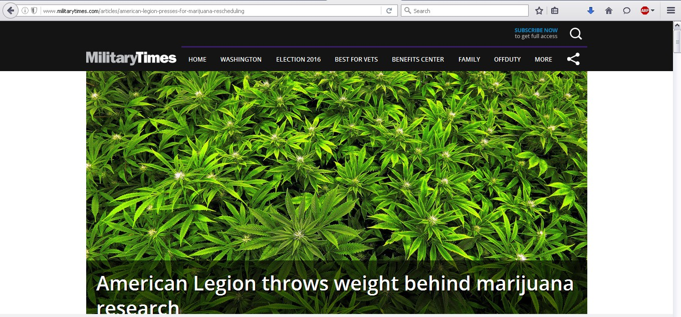 American Legion throws weight behind marijuana research