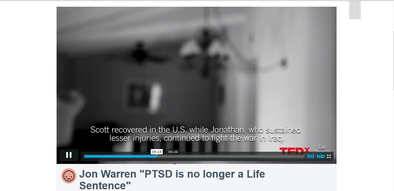 "Jon Warren ""PTSD is no longer a Life Sentence"""